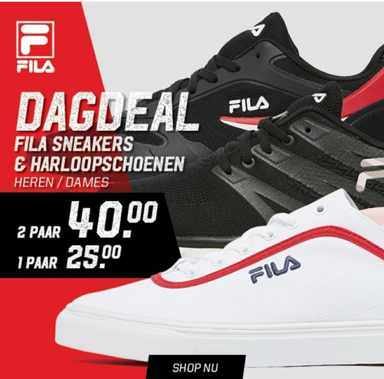 Fila (sport) schoenen 2 paar €40