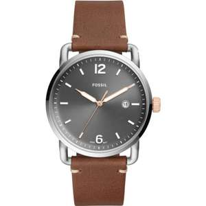 Fossil heren horloge met leder FS5417 @ Watches2u