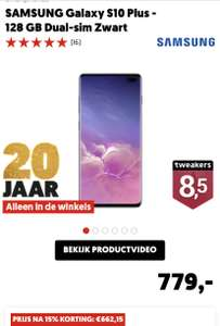 Samsung Galaxy S10+ 128GB €662