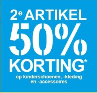 Actie: 2e kids artikel 50% korting @ Scapino