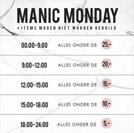 Manic Monday - de prijzen dalen steeds verder van €25-€5 @ Modemusthaves