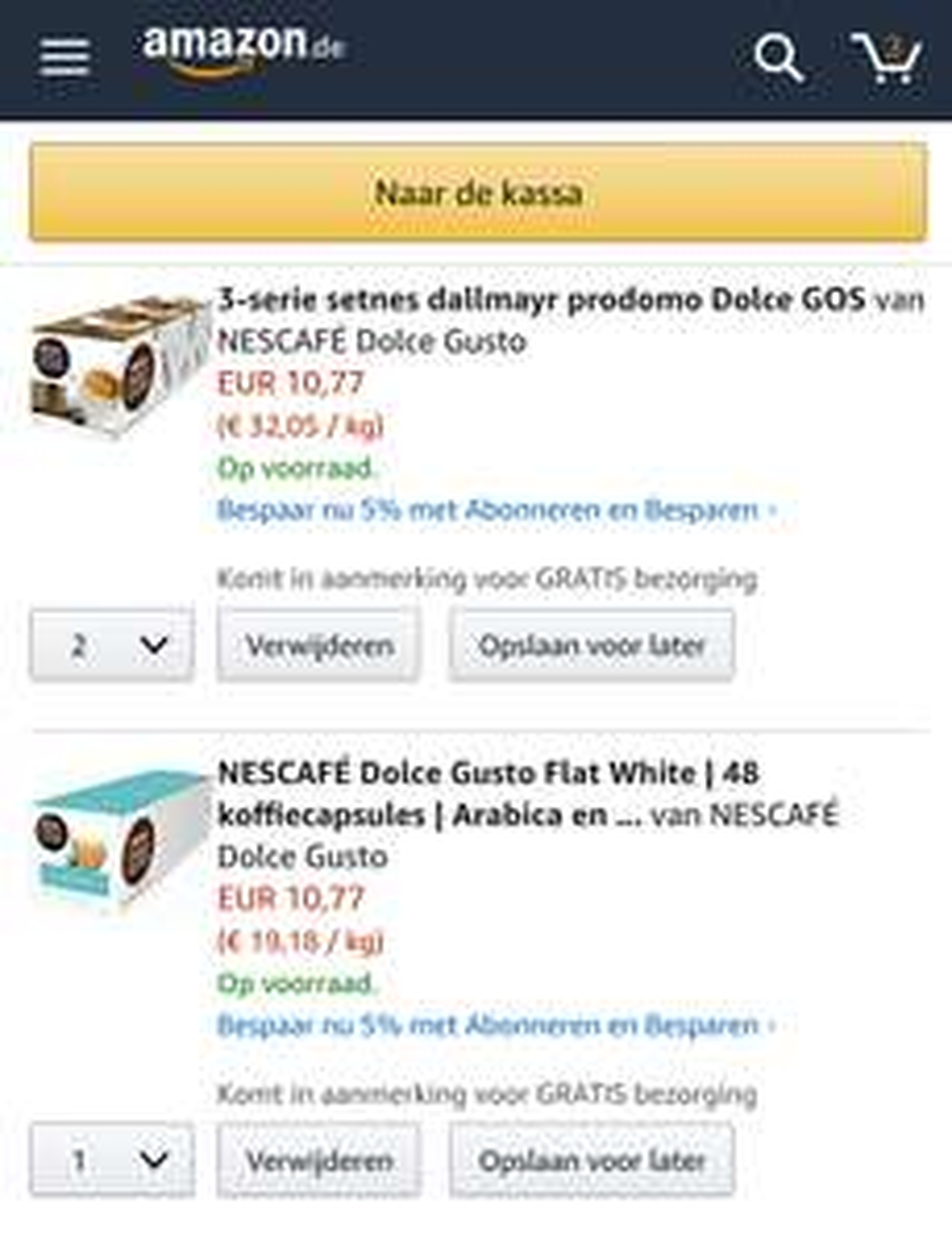 Diverse Dolce Gusto smaken €10.90 / 3pak @ Amazon