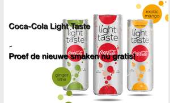 Gratis Coca-Cola light taste