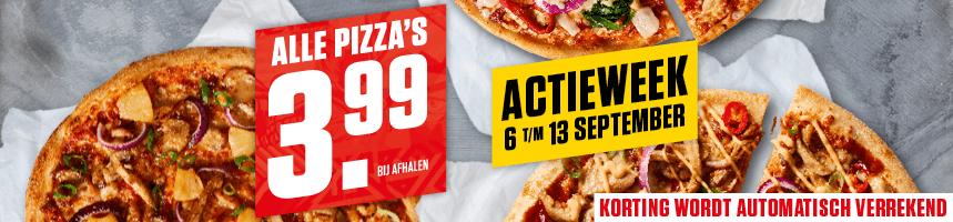 New York Pizza 3,99 euro bij afhalen