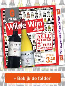 Alle wijnen (+ port & bubbels!) 2e fles halve prijs @ Gall & Gall