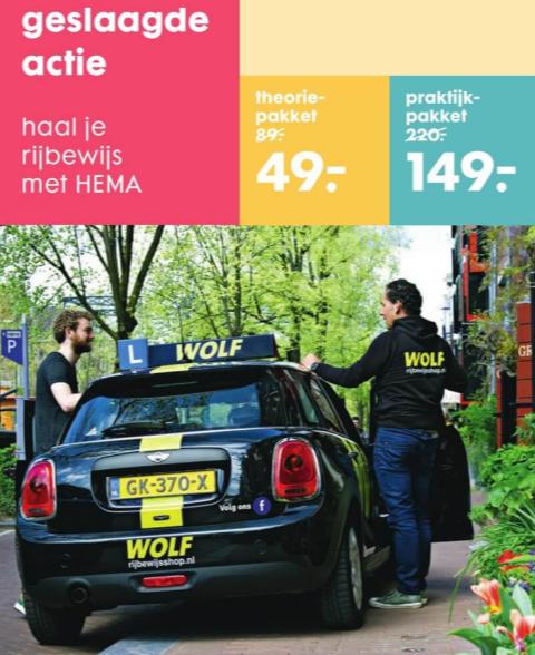 Haal je rijbewijs met HEMA - WOLF