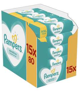 Pampers Sensitive Billendoekjes XXL verpakking 15x80