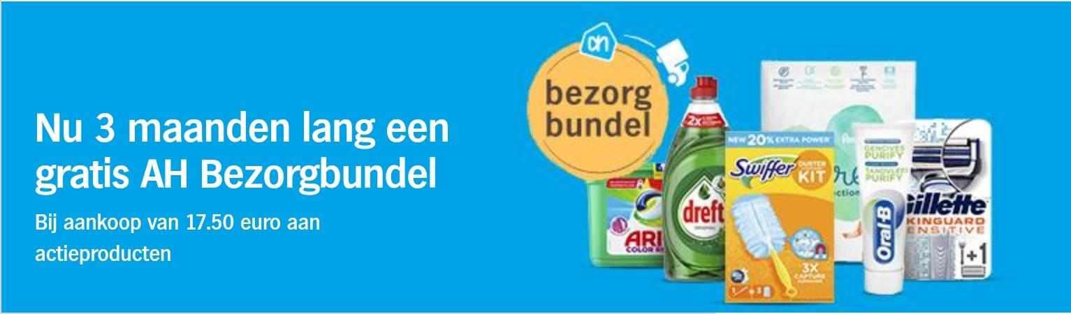 AH Bezorgbundel 3 maanden gratis bij €17,50 aan actieproducten