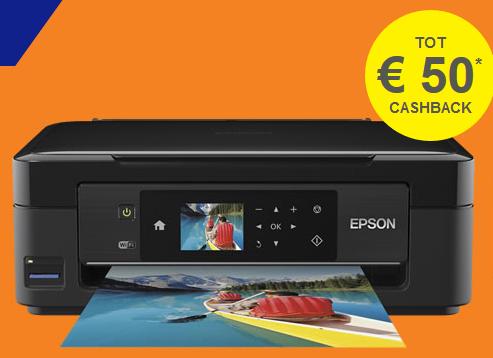 Cashback actie op geselecteerde Epson printers