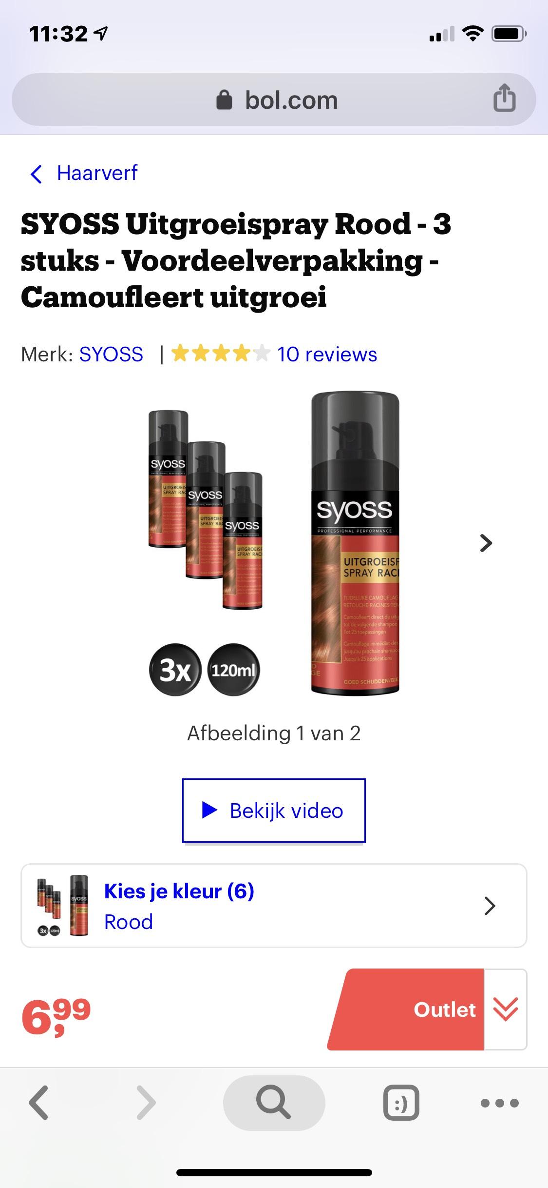 Uitgroei spray rood