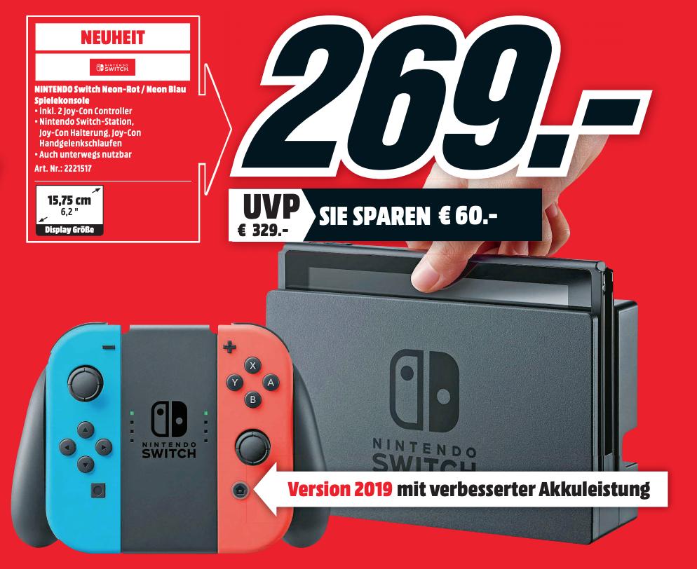 Nintendo Switch 32GB 2019 @ Mediamarkt DE (Grensdeal)