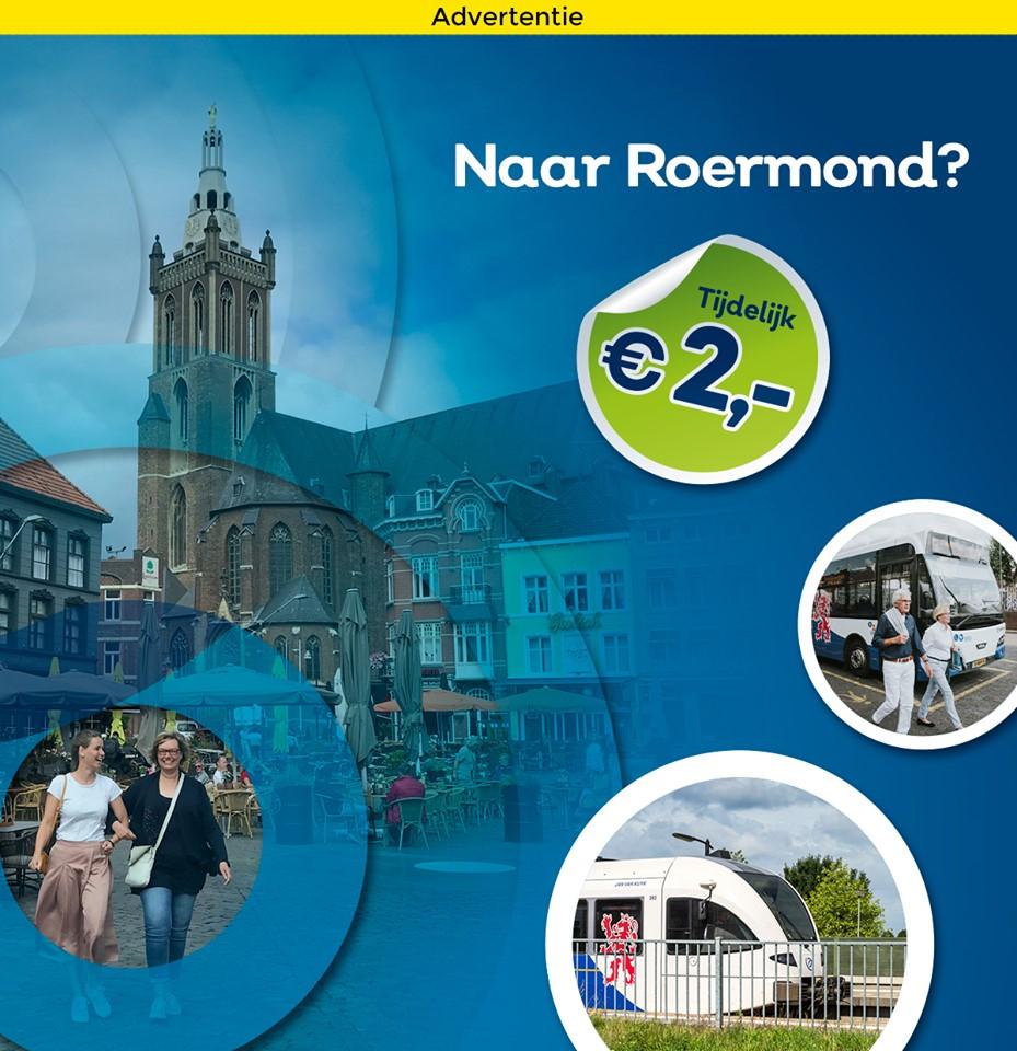 [Lokaal] Voor €2 (retour!) een dagje naar Roermond vanuit Sittard, Venlo en Weert