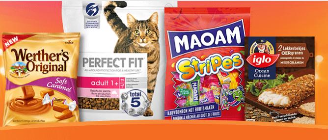 Scoupy nu voor iedereen: Werther's Original Soft Caramel gratis, Iglo lekkerbekjes 50%,  Perfect fit kat voor €2, MAOAM € 0,50