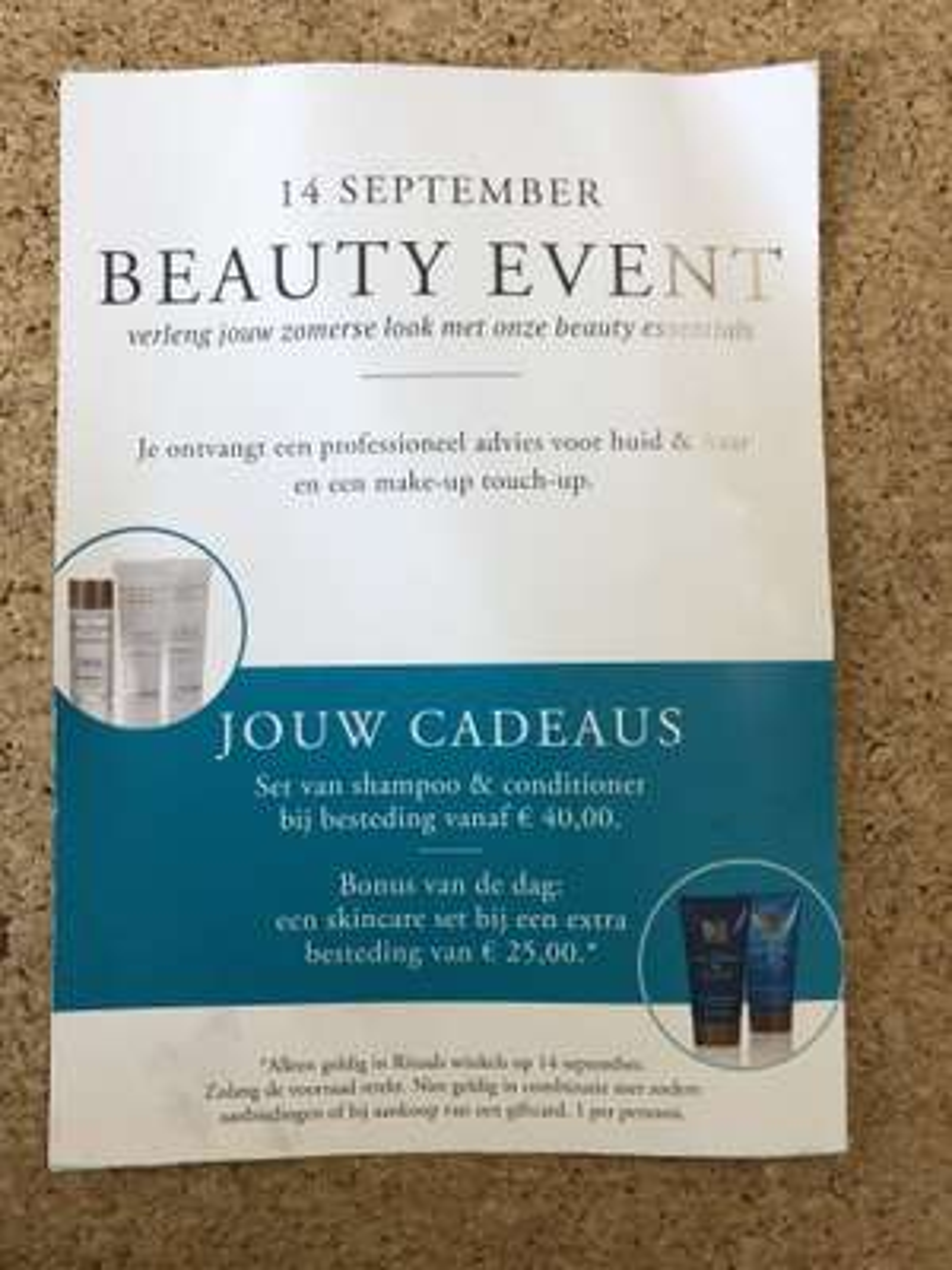 Rituals Beauty Event 14 september - gratis extra geschenk bij besteding van 65 euro of meer