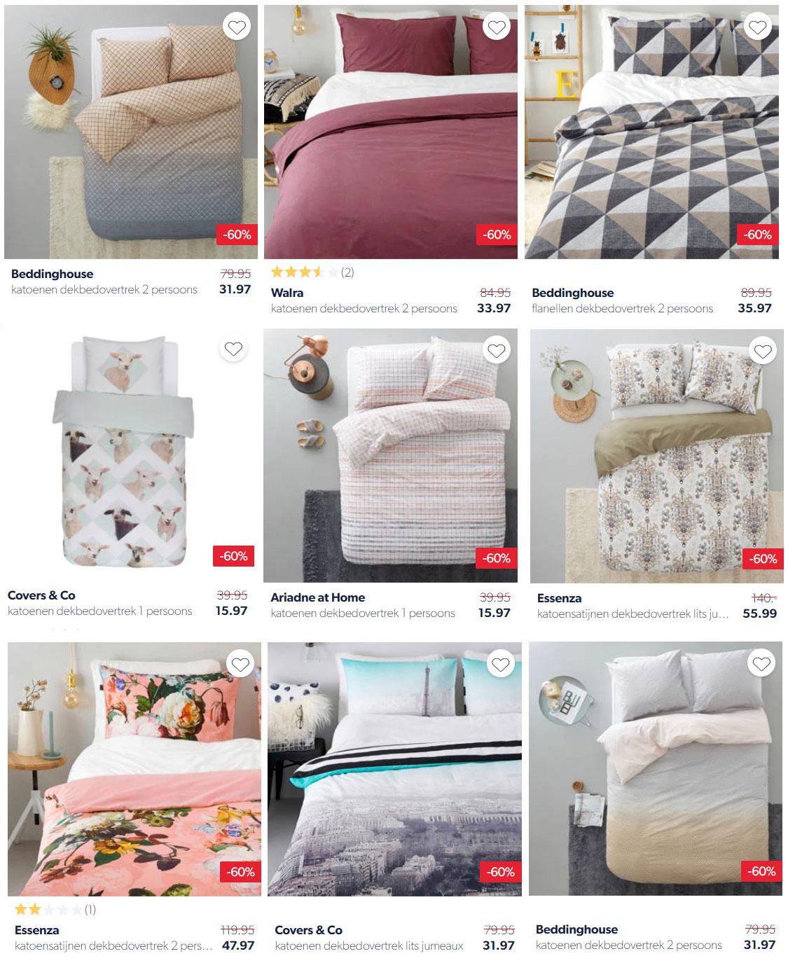 SALE: 200+ dekbedovertrekken -60% - diverse merken @ Wehkamp