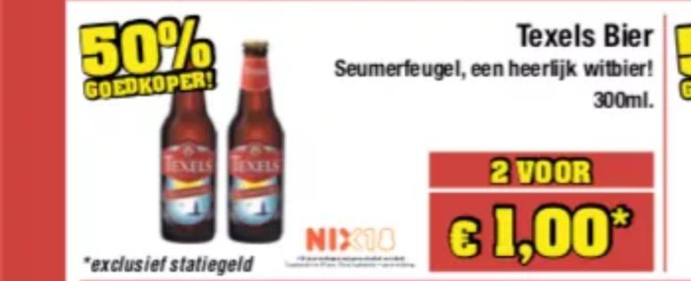 2 Flesjes Texels Seumerfeugel witbier voor €1 bij Budgetfood