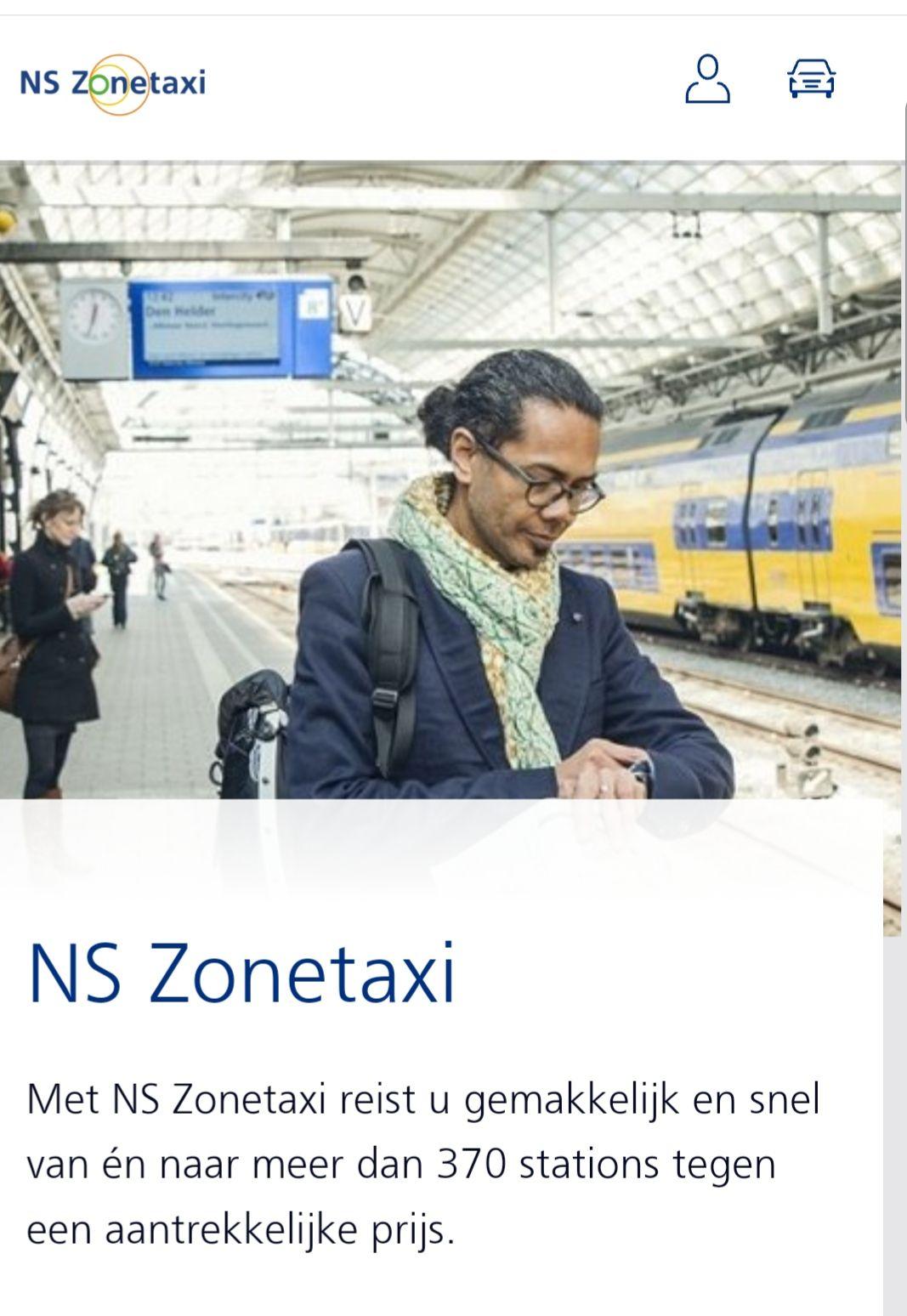 NS zonetaxi 5 euro korting