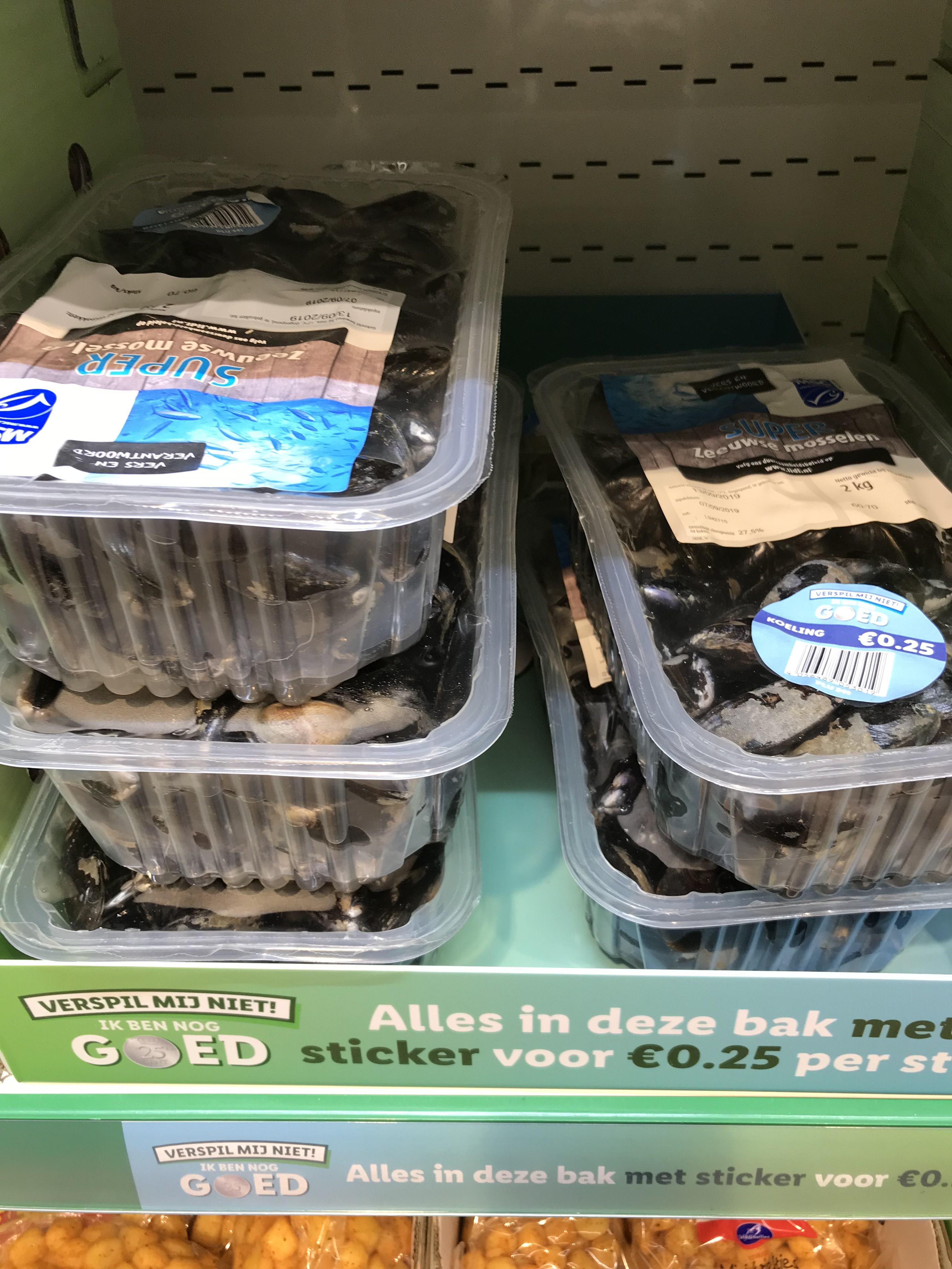 2 kg mosselen voor 0,25 Lidl Apeldoorn anklaar