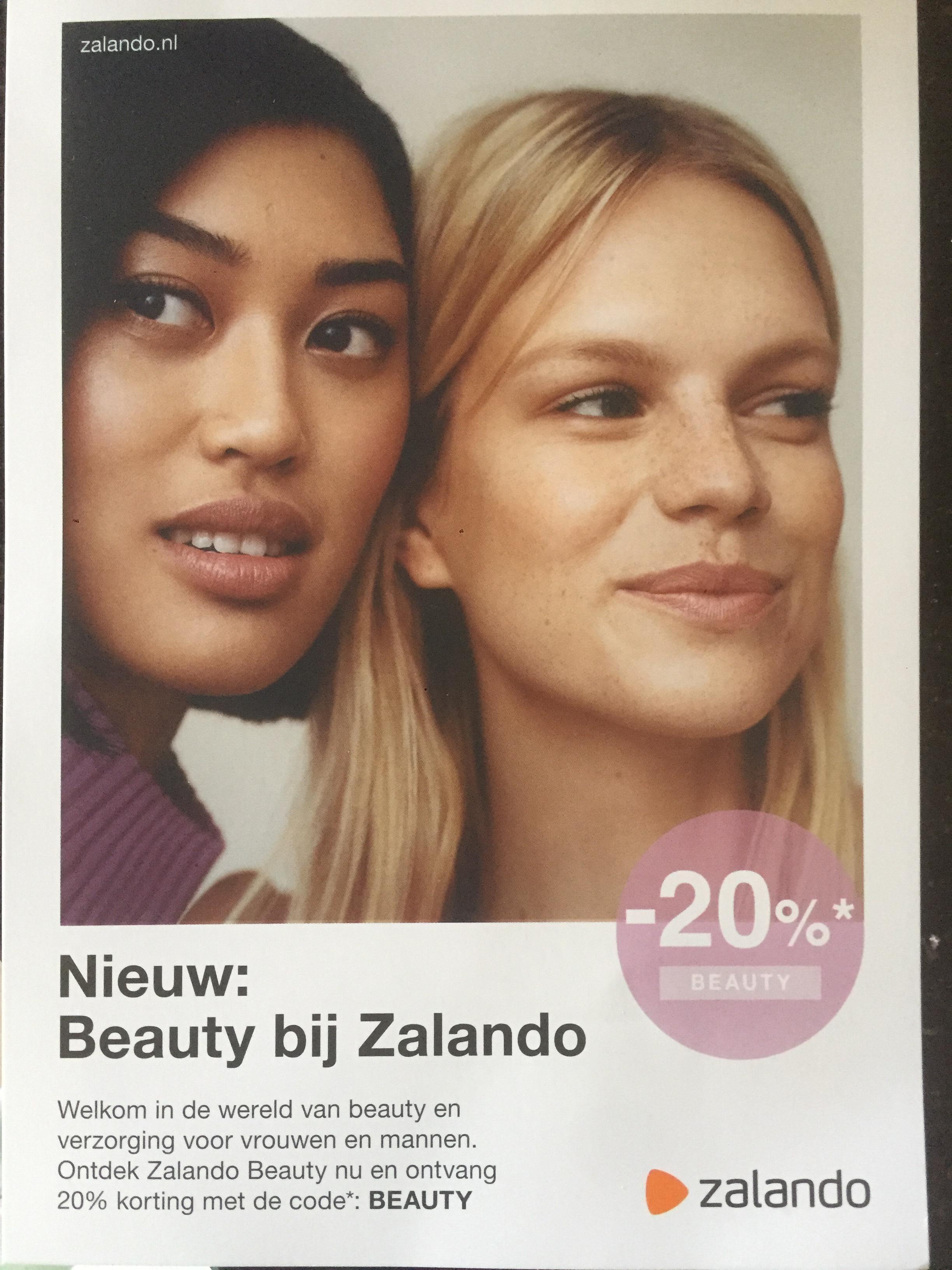 20% korting bij zalando op beauty producten als clinique estee lauder etc