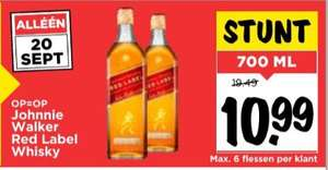Johnnie Walker Red Label Whisky 70 cl @Vomar