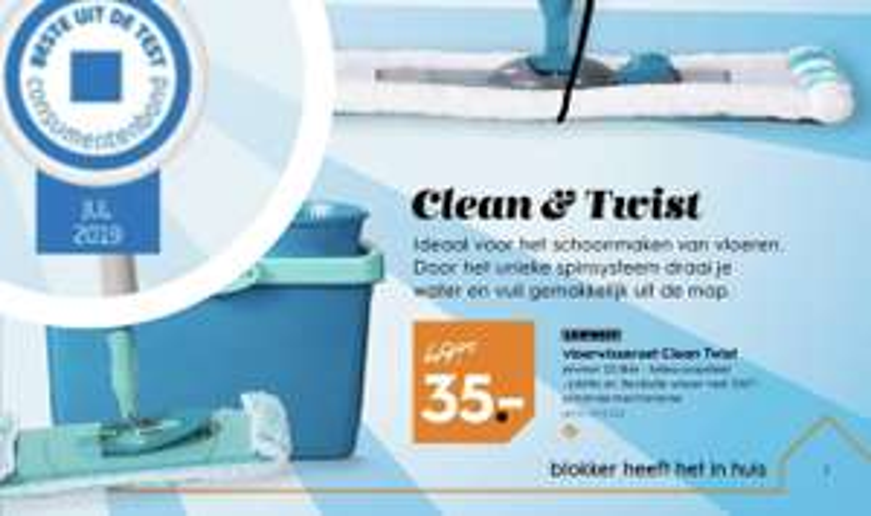 Beste uit test: Leifheit Clean & Twist M bij Blokker