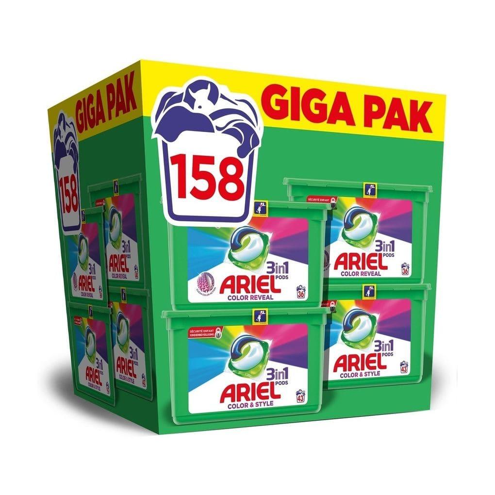 Ariel Color reveal 3 in 1 pods 158 stuks met gratis verzending