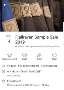 Jaarlijkse Fjallraven sample sale.