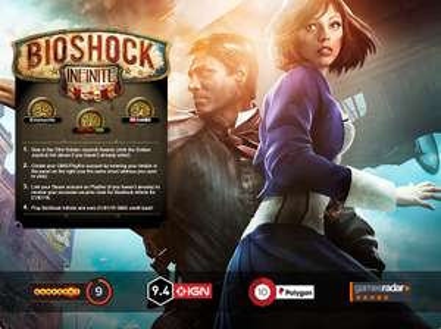 Bioshock Infinite (Steam) voor €1,- @ Greenmangaming