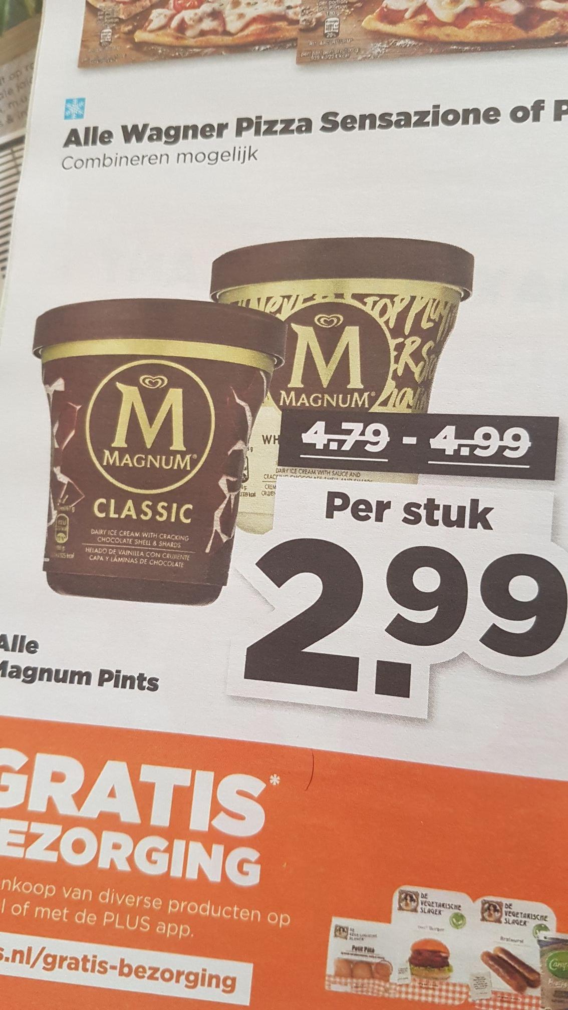 Magnum pints 2,99 plus