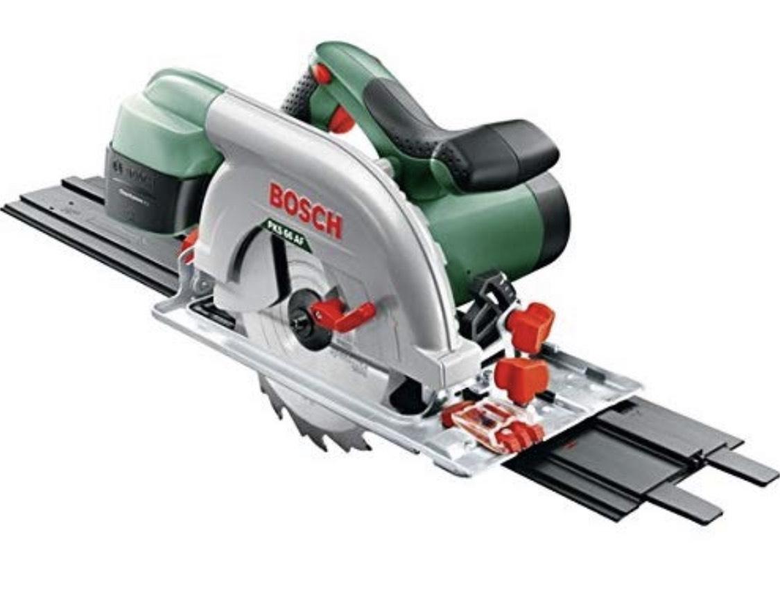 Bosch handcirkelzaag met geleiderail pks 66 af