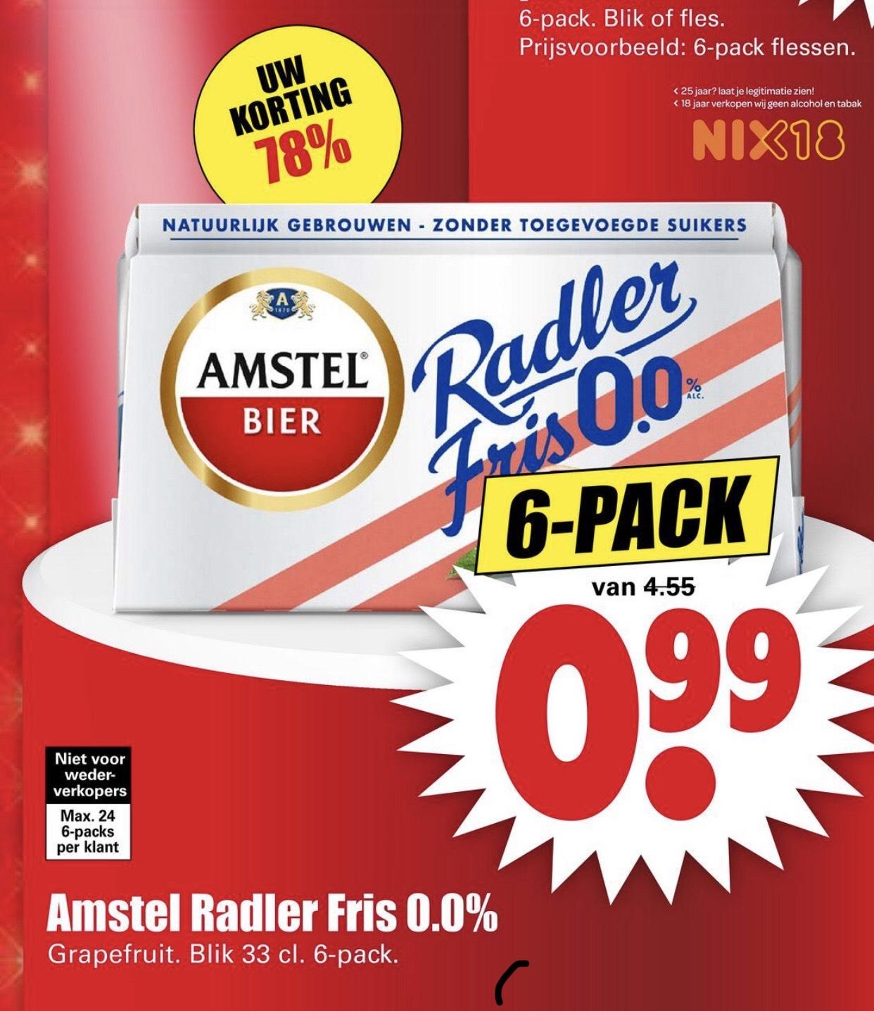 Amstel Radler Fris 0.0% Grapefruit sixpack
