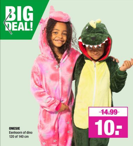 Eenhoorn / Dinosaurus onesie @ Big Bazar