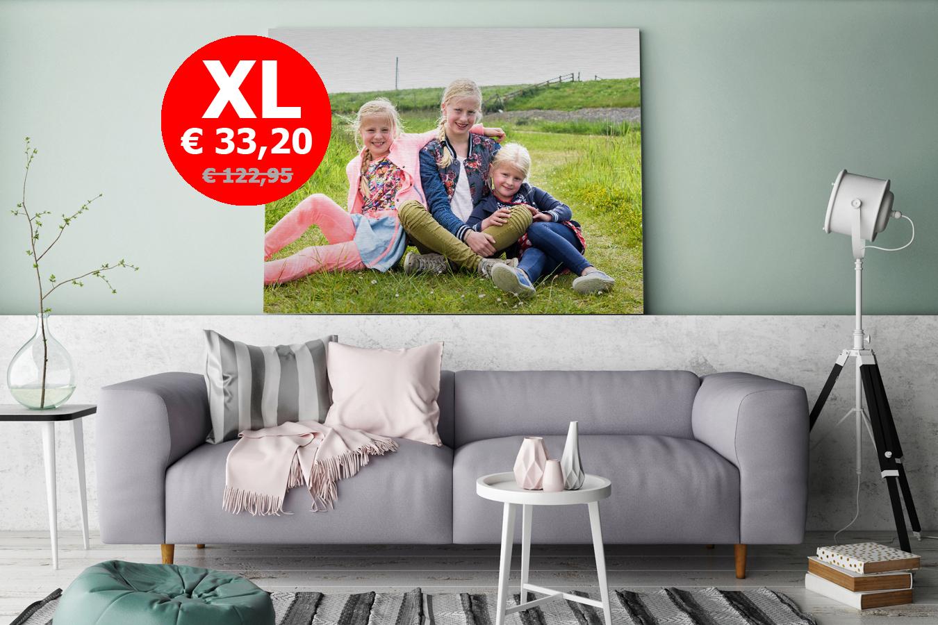 XL - Aluminium foto 120x80 cm - t.w.v € 122,95