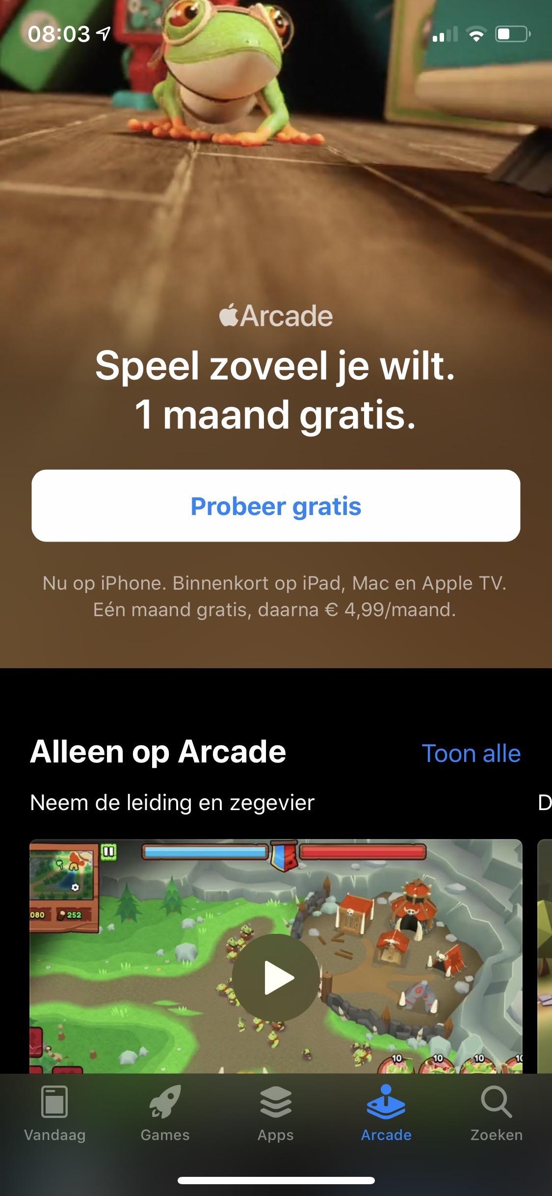 [Apple] Apple Arcade eerste maand gratis @AppStore
