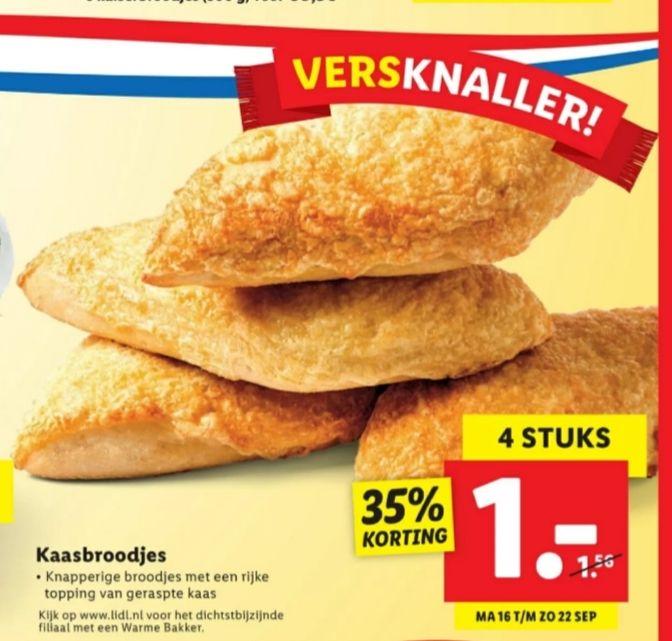 4 kaasbroodjes voor €1 @lidl