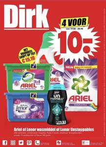 Ariel of Lenor wasmiddel of Lenor Unstoppables | 4 voor €10,00 @Dirk