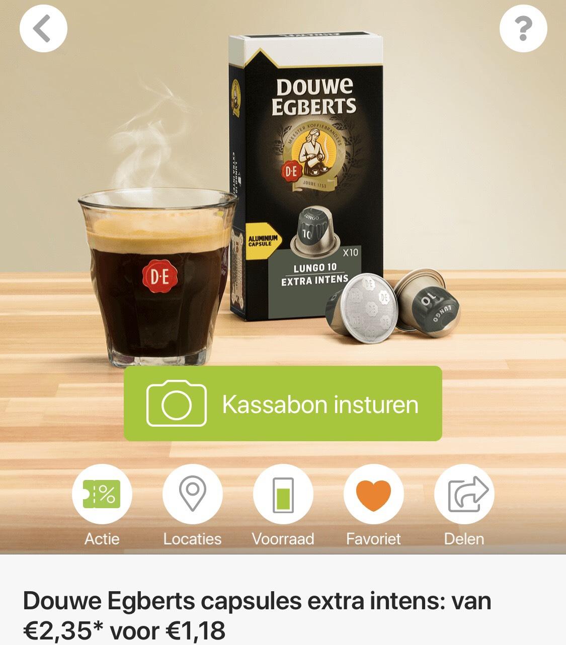 Douwe Egberts capsules extra intens 50% korting @Scoupy