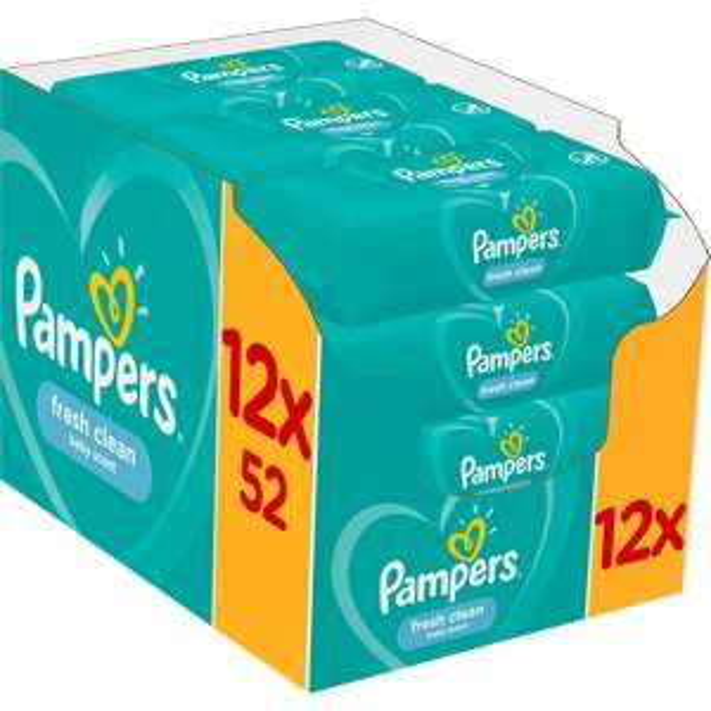 1+1 gratis + 50% extra korting op pampers babydoekjes