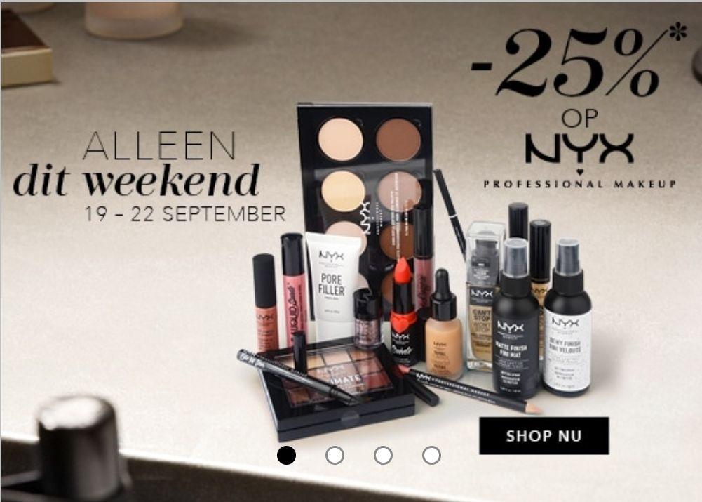 25% korting op NYX Professional Makeup bij Douglas.