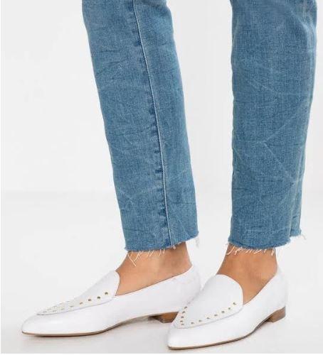 Bianco leren loafers t met studs -65% @ Wehkamp