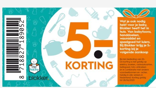 5€ korting bij Blokker