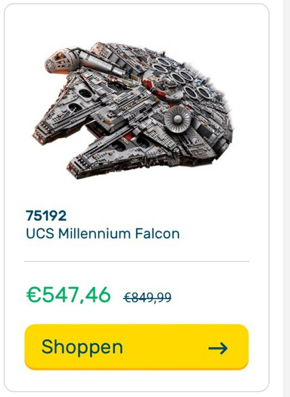 Lego 25% korting op oa 75192 UCS Millennium Falcon @A-Tembo