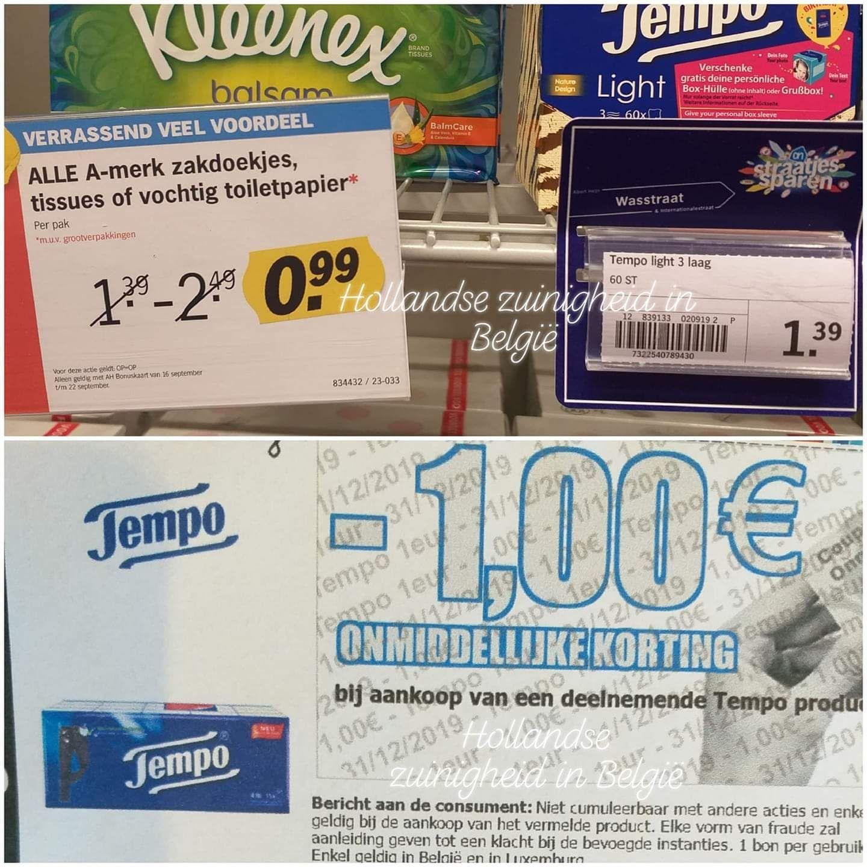 [Grensdeal België] gratis Tempo tissues
