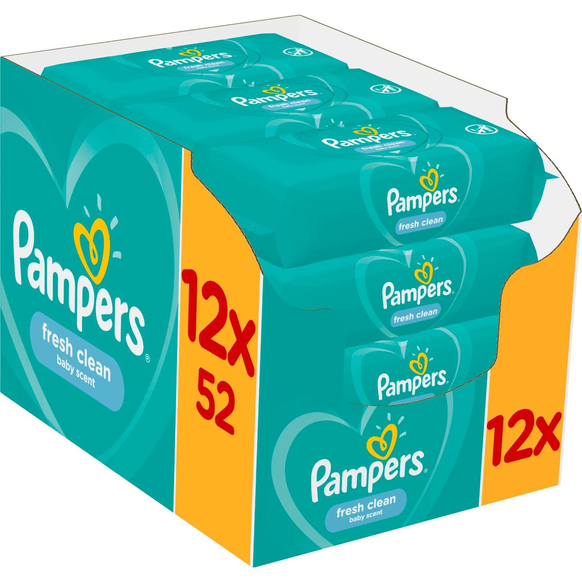 Pamper doekjes doos 12 stuks 1+1 gratis met gratis verzending en 2,50 kortingscode