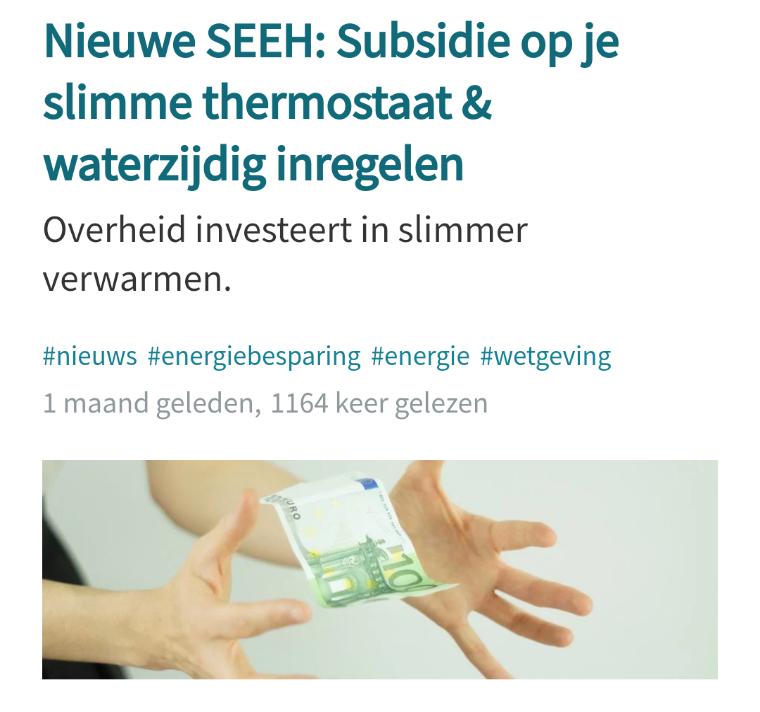 €100 subsidie bij min 2 energiebesparende aanpassingen in huis