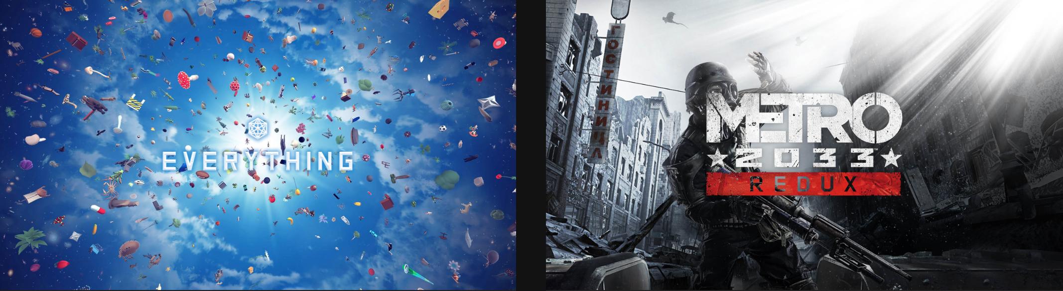 Epicgames Metro 2033 Redux; Everything; Vrij van September 26 - Oktober 03.