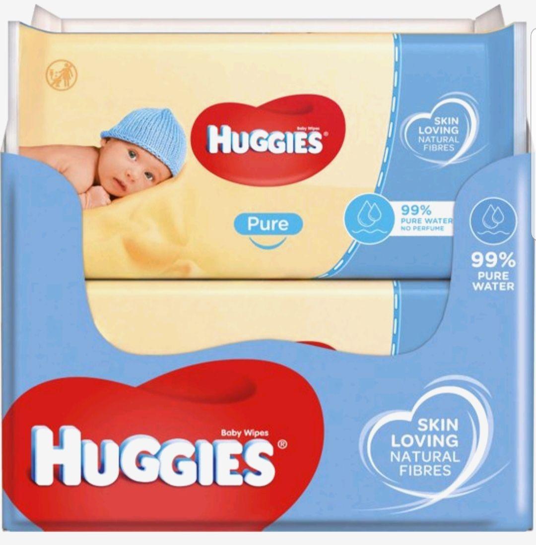 Bol.com - Huggies Pure Baby Wipes Billendoekjes - 99% water – 18 x 56 doekjes