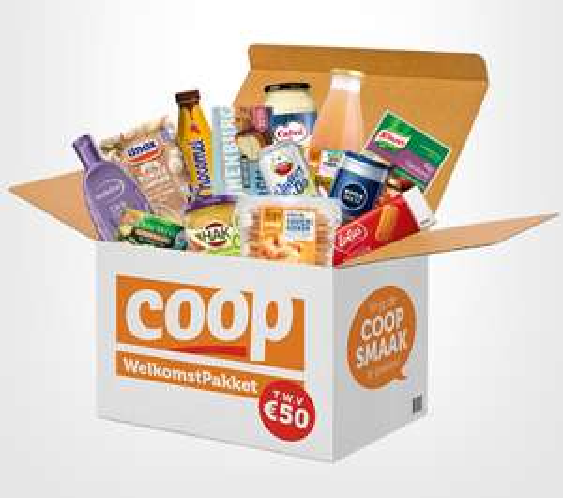 [Coop] GRATIS boodschappenpakket t.w.v. € 50 + tijdelijk gratis bezorging