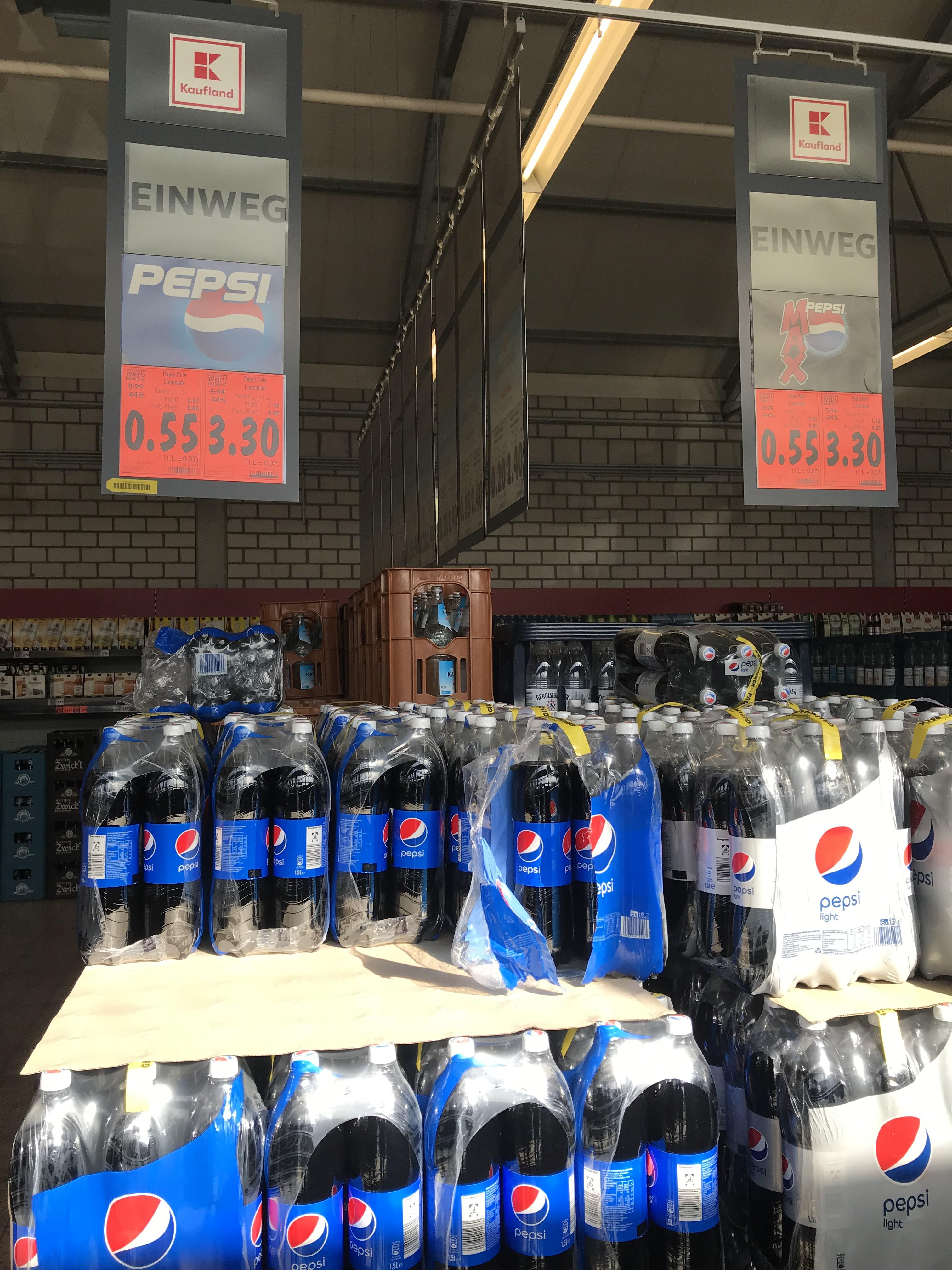 [Grensdeal Duitsland Kaufland] Pepsi cola of 7 Up 1.5 liter voor 0.55