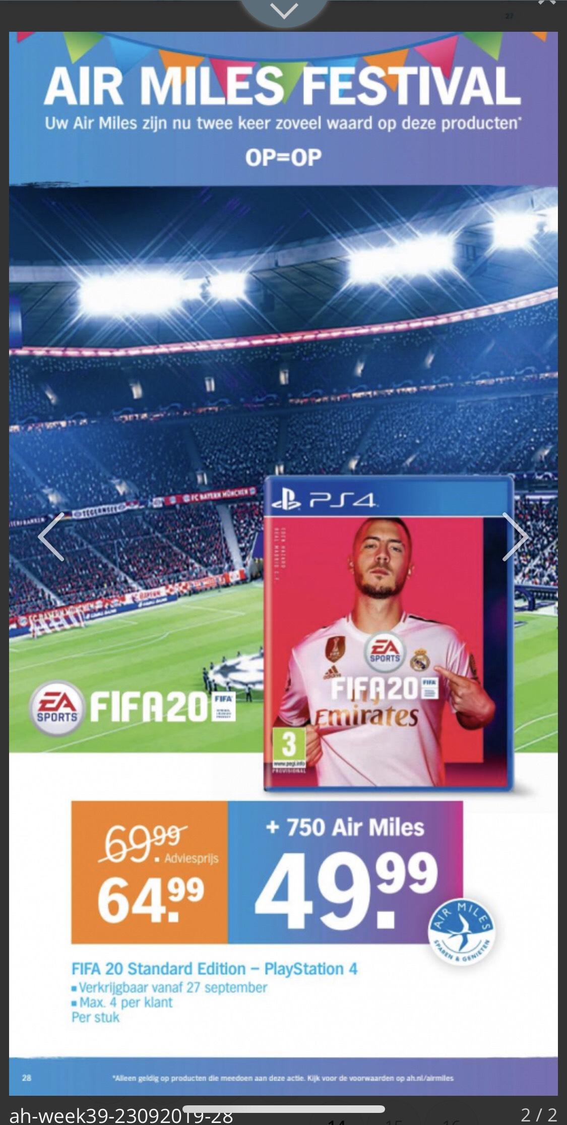FIFA 20  PlayStation 4 met airmiles AH